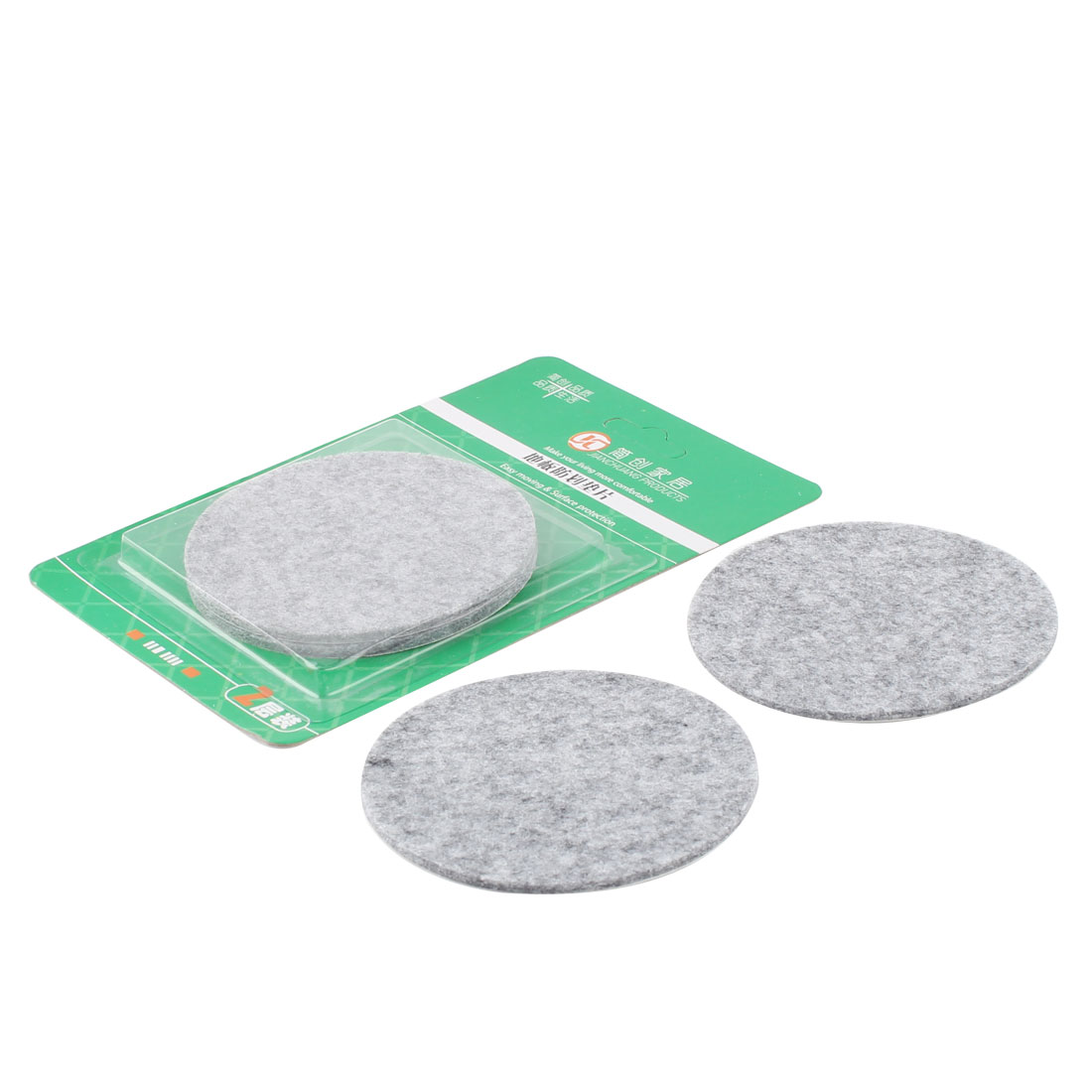 Table Chair Legs Protect Floor Furniture Felt Pads Cushions Mats Gray 85mm Dia 4pcs