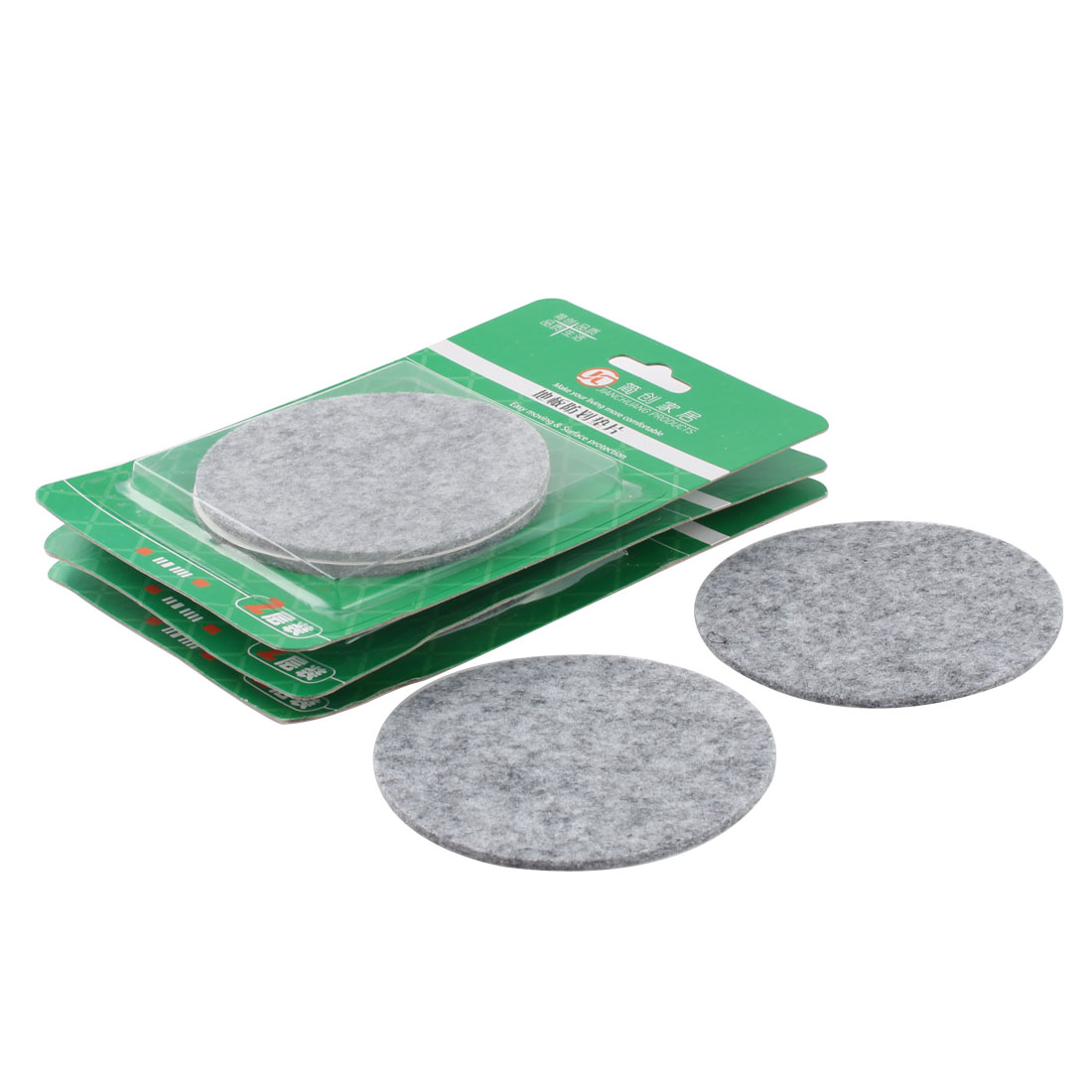Table Chair Legs Protect Floor Furniture Felt Pads Cushions Mats Gray 85mm Dia 8pcs