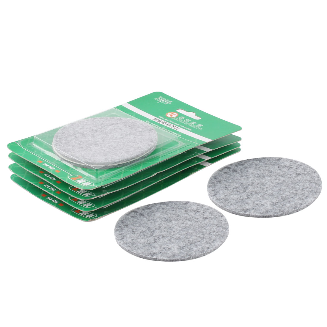 Home Office Self Adhesive Cabinet Table Chair Legs Furniture Felt Pads Mats Gray 85mm Dia 10pcs