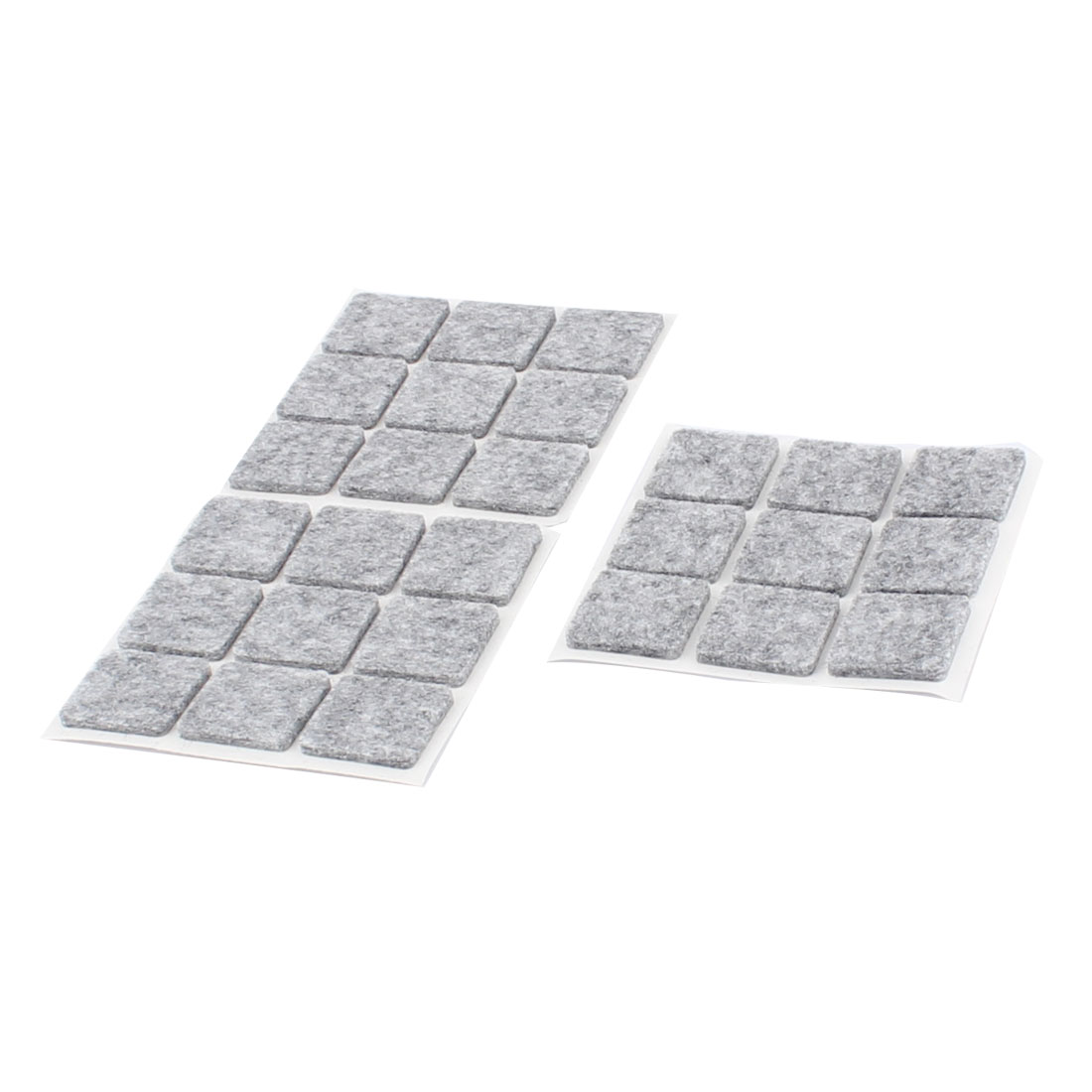 Table Chair Legs Square Anti Scratch Furniture Felt Pads Cover Protector Gray 22 x 22mm 27pcs