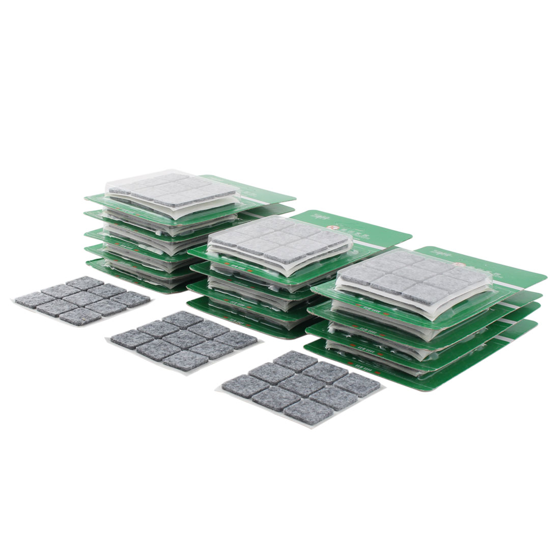 Table Chair Square Anti Scratch Furniture Felt Pads Cover Protector Gray 22 x 22mm 378pcs