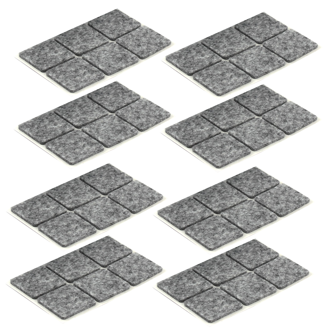 Table Chair Legs Square Anti Slip Furniture Felt Pads Covers Protector Gray 30 x 30mm 48pcs