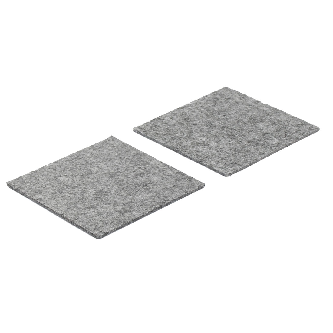 Table Chair Legs Square Anti Slip Furniture Felt Pads Covers Protector Gray 85 x 85mm 2pcs
