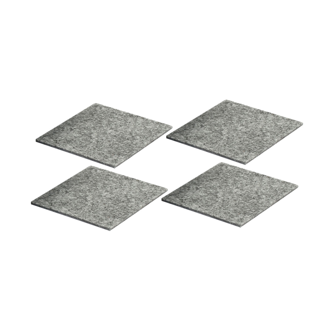 Table Chair Legs Square Anti Slip Furniture Felt Pads Covers Protector Gray 85 x 85mm 4pcs