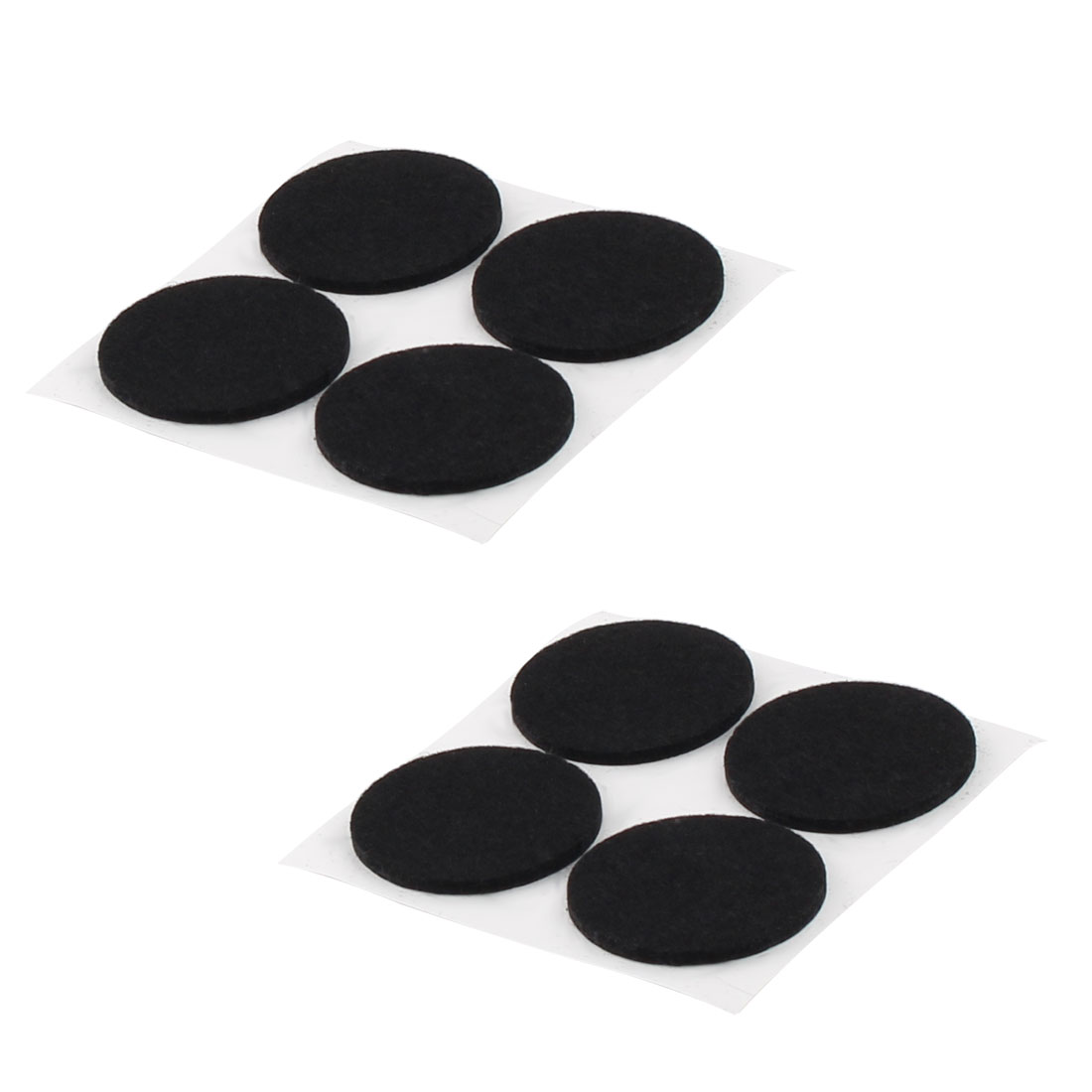 Cabinet Chair Desk Legs Self Stick Surface Protect Furniture Felt Pads Cushions Black 38mm Diameter 8pcs