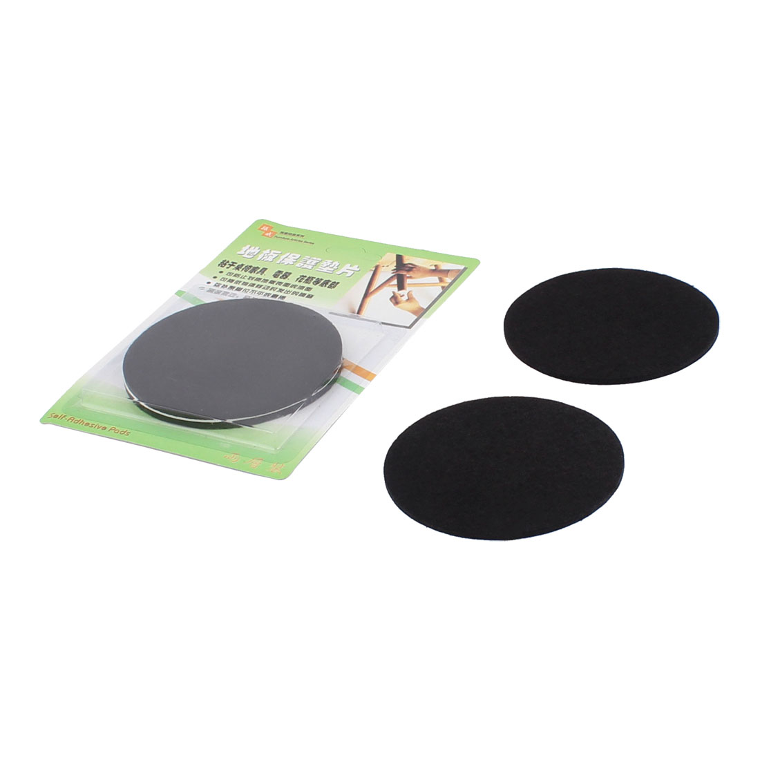 Cabinet Desk Legs Self Adhesive Floor Protection Furniture Felt Pads Mats Black 85mm Diameter 4pcs