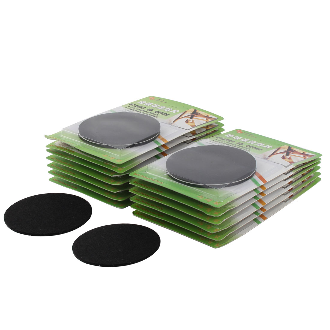 Household Self Adhesive Floor Protection Furniture Felt Pads Cushions Black 85mm Dia 28pcs
