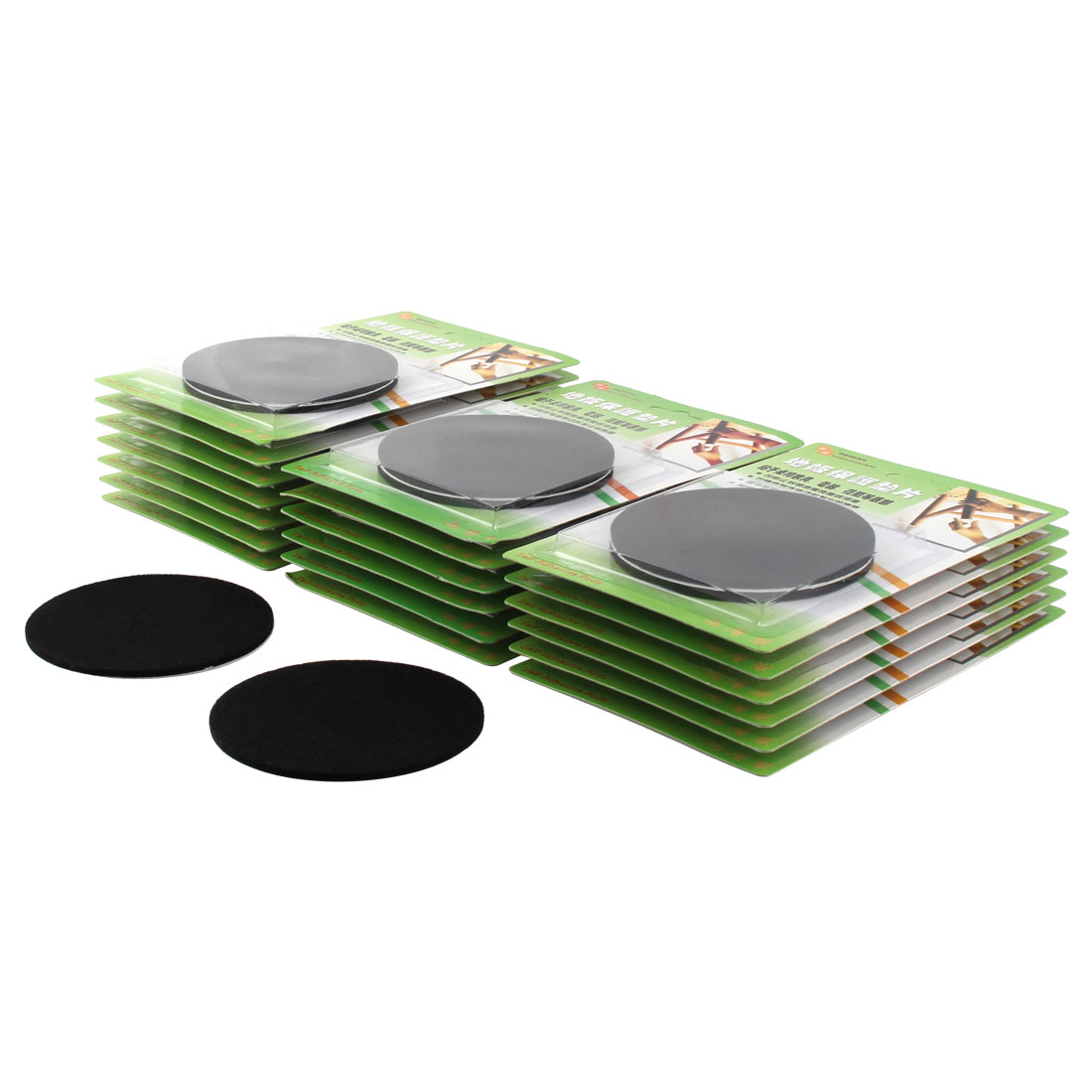 Table Chair Round Anti Scratch Furniture Felt Pads Covers Cushion Black 85mm Dia 40pcs
