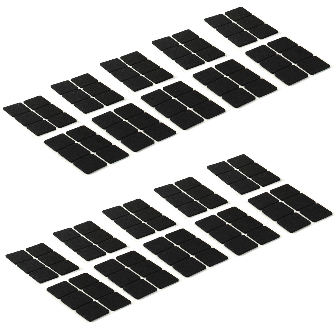 Table Chair Square Anti Slip Self Adhesive Furniture Felt Pads Cover Black 30 x 30mm 120pcs