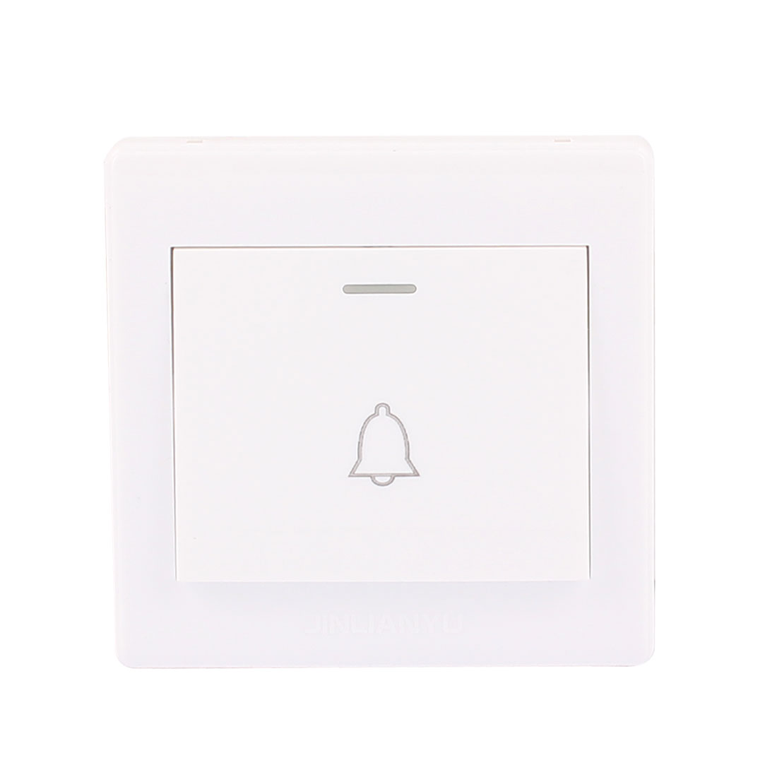 AC 250V 10A Home Office Momentary Push Release Wall Mount Doorbell Switch Plate