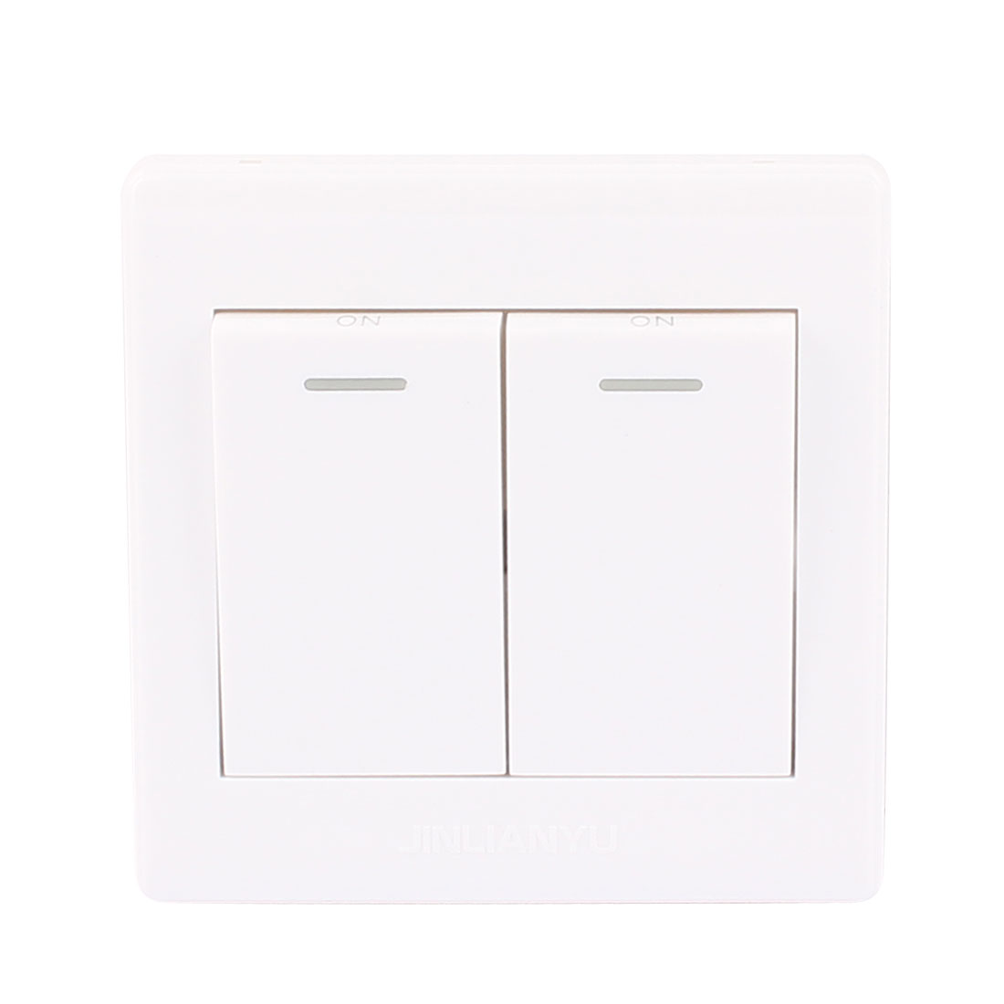 AC 250V 10A 1 Gang 2 Way On/Off Dual Press Button Switch Wall Plate