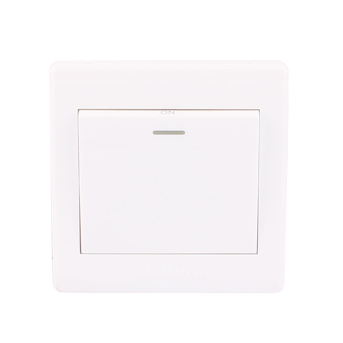 AC 250V 10A Square ON/OFF Single Press Button Light Switch Wall Plate