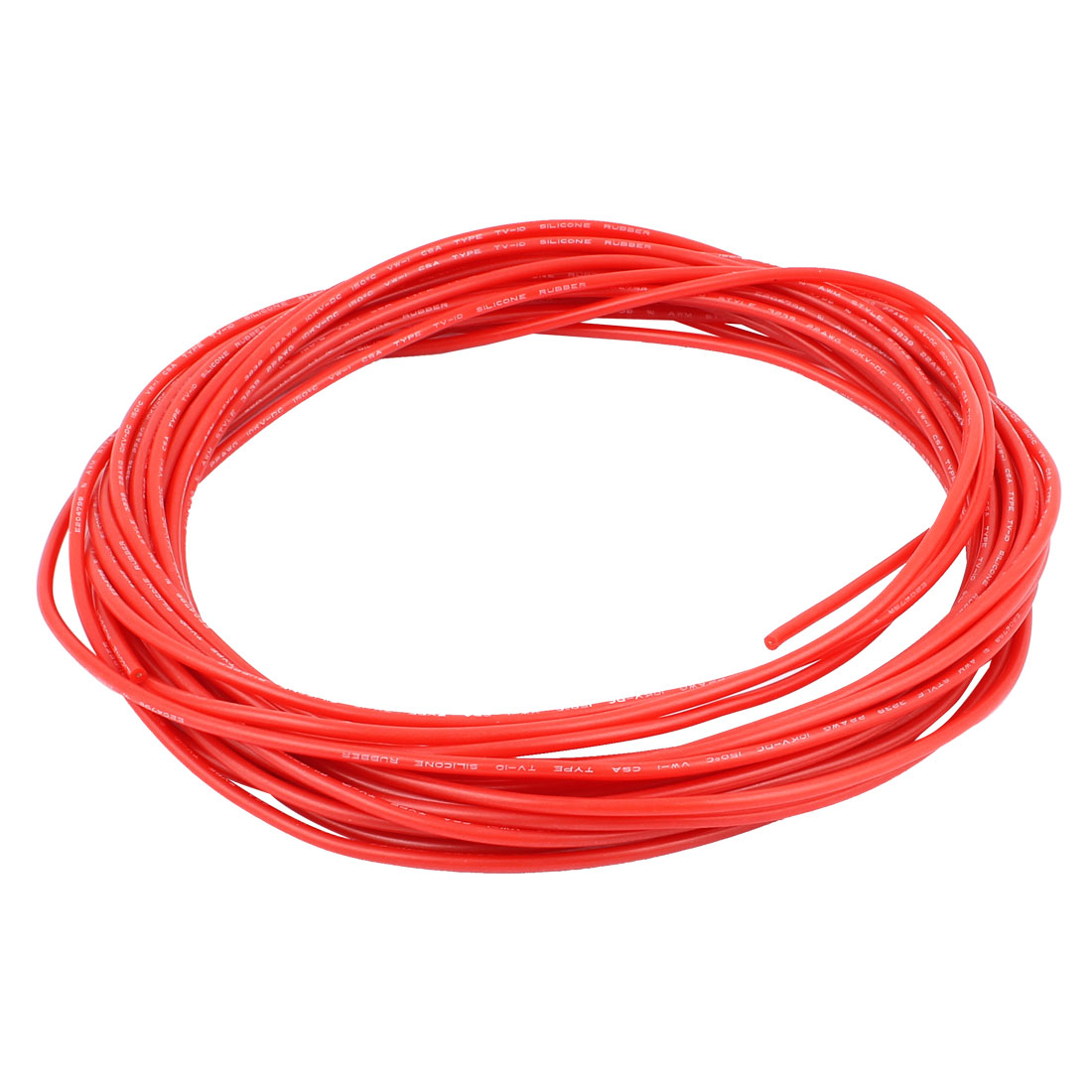 10M 32.8Ft 24AWG 10KV Electric Copper Core Flexible Silicone Wire Cable Red