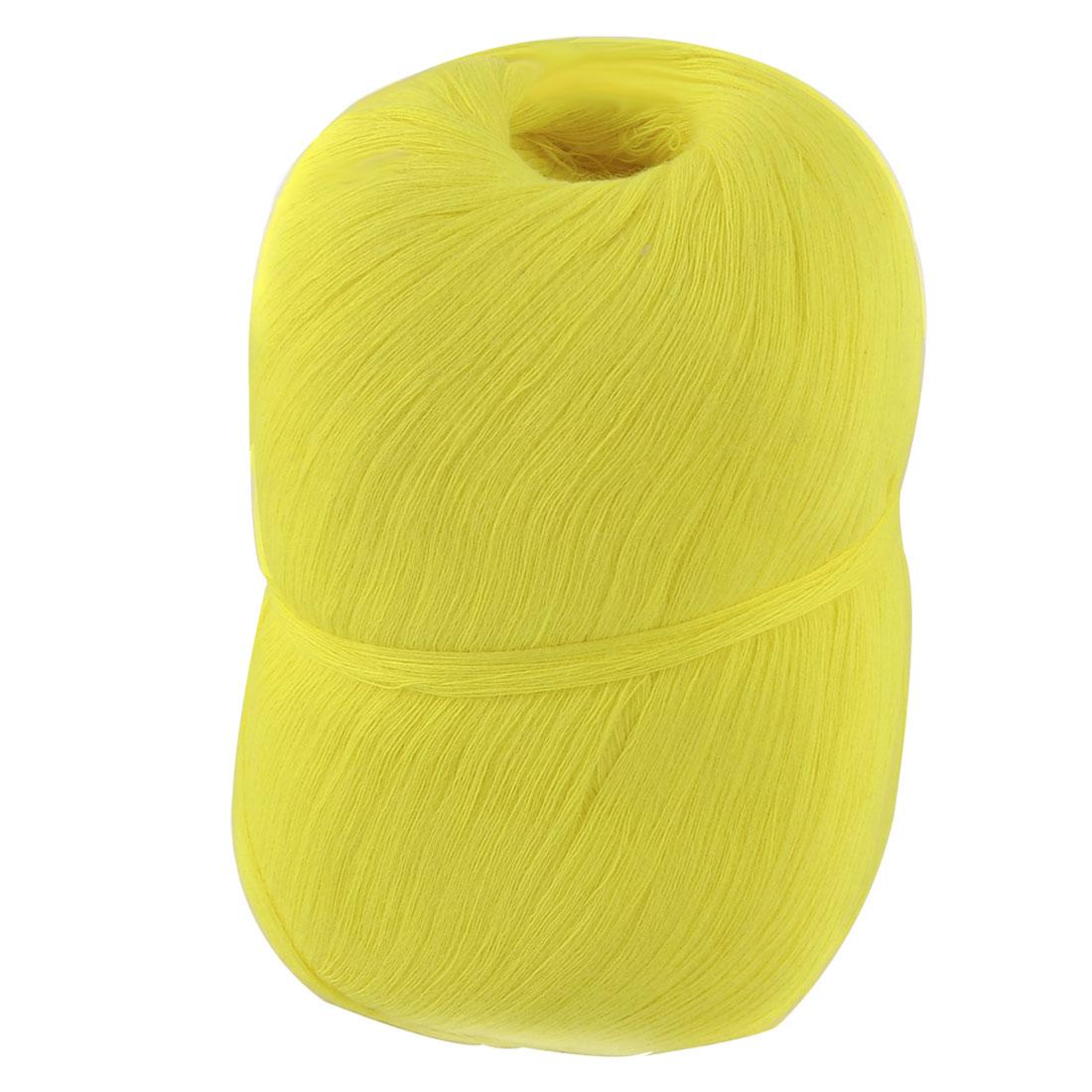 Hand DIY Clothes Tatting Knitting Cotton Thread Embroidery Craft Yarn Yellow