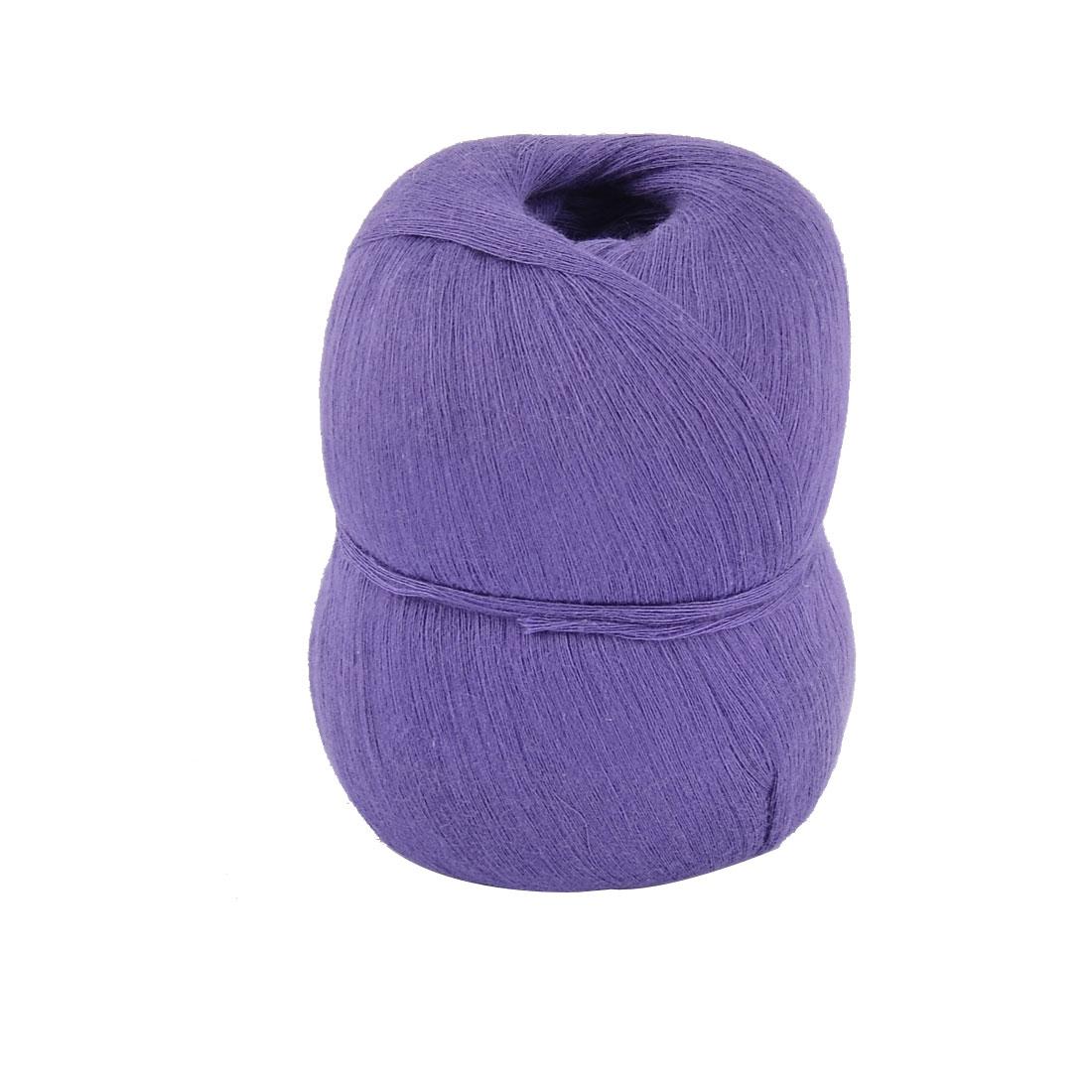 Home Hand DIY Knitting Clothes Cotton Crochet Thread Craft Yarn Dark Purple