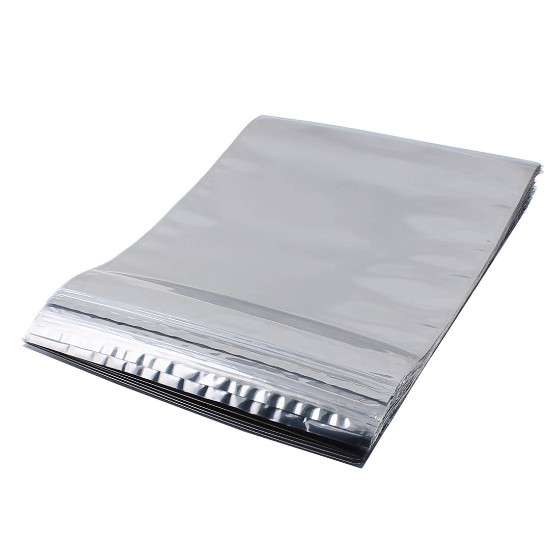 50 Pcs 280mm x 380mm Silver Tone Resealable Zip Lock Anti Static Bag