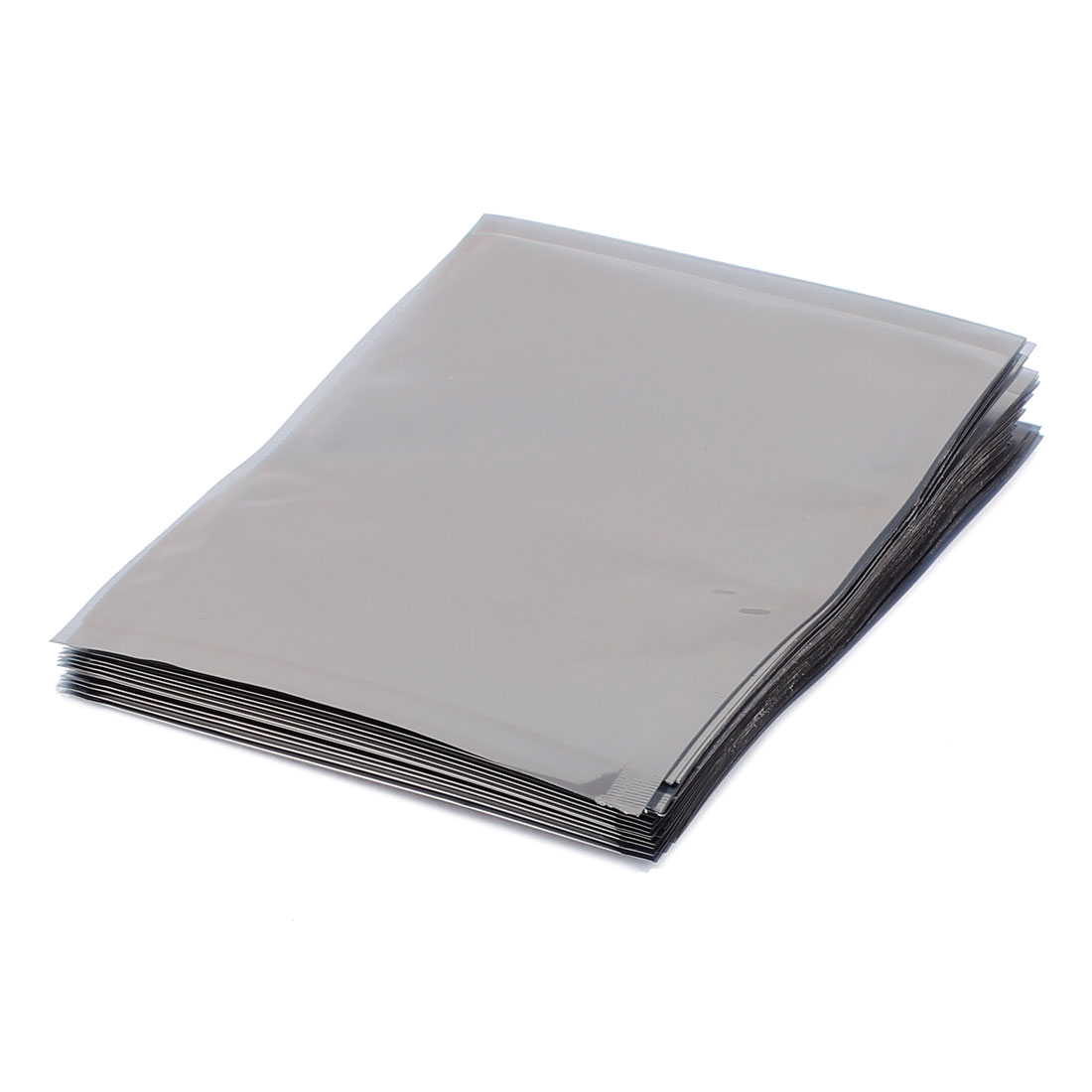 50 Pcs 100mm x 120mm Silver Tone Flat Open Top Anti Static Bag For Electronics