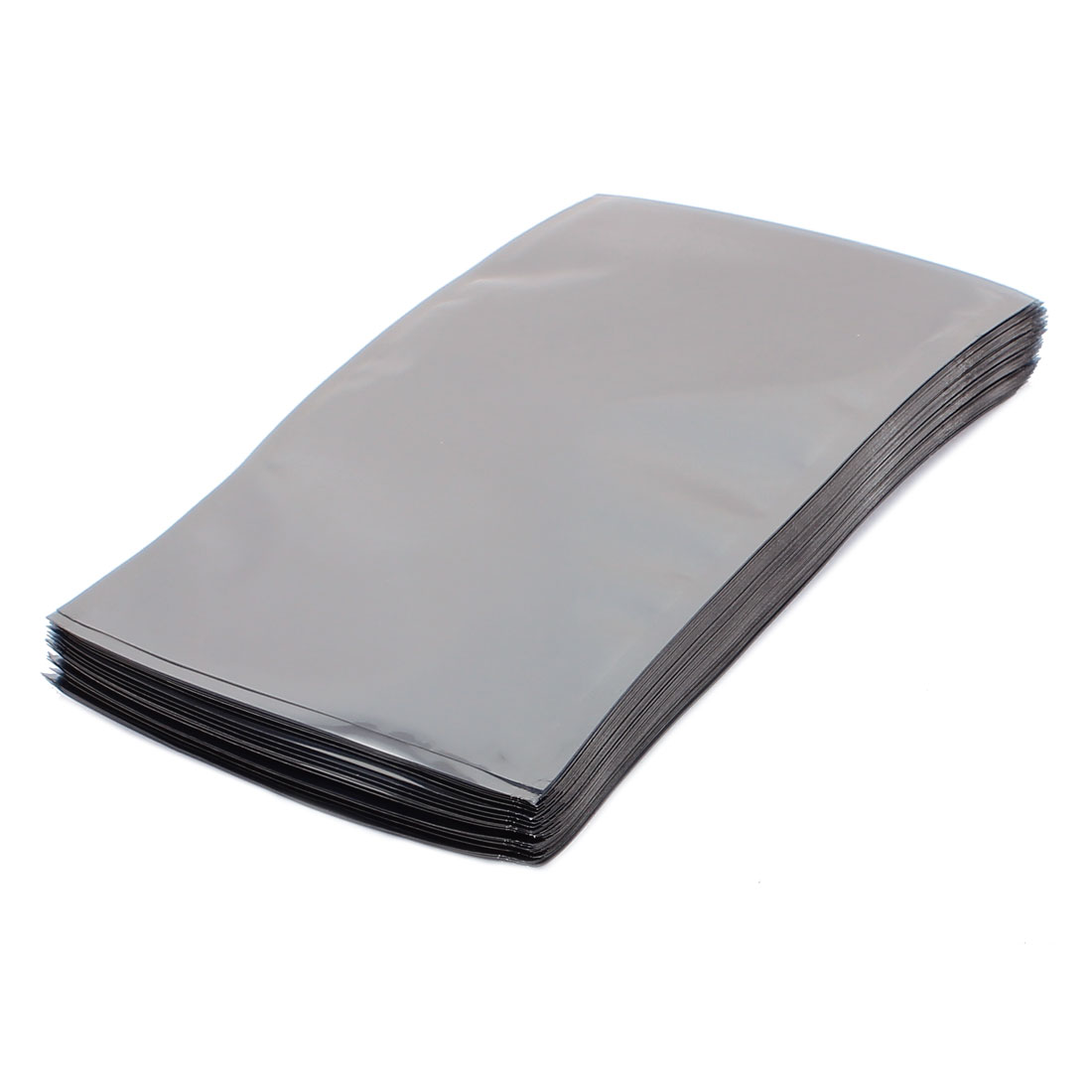 100 Pcs 110mm x 180mm Silver Tone Flat Open Top Anti Static Bag For Electronics
