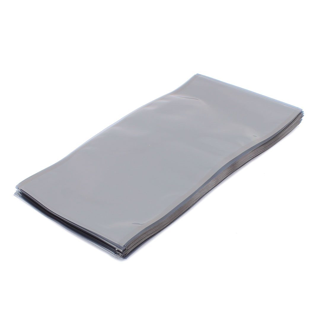 50 Pcs 110mm x 200mm Silver Tone Flat Open Top Anti Static Bag For Electronics