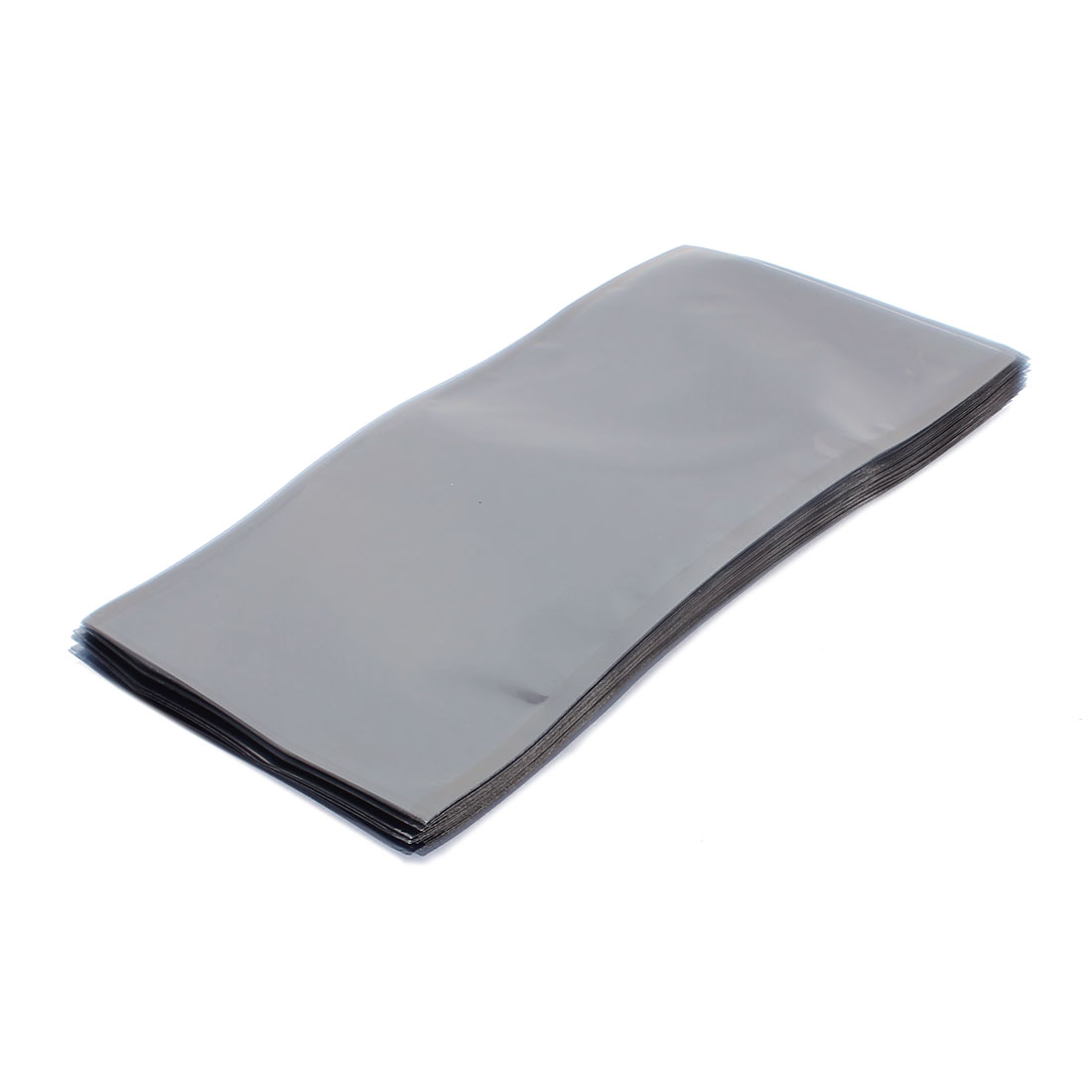 50 Pcs 110mm x 220mm Silver Tone Flat Open Top Anti Static Bag For Electronics