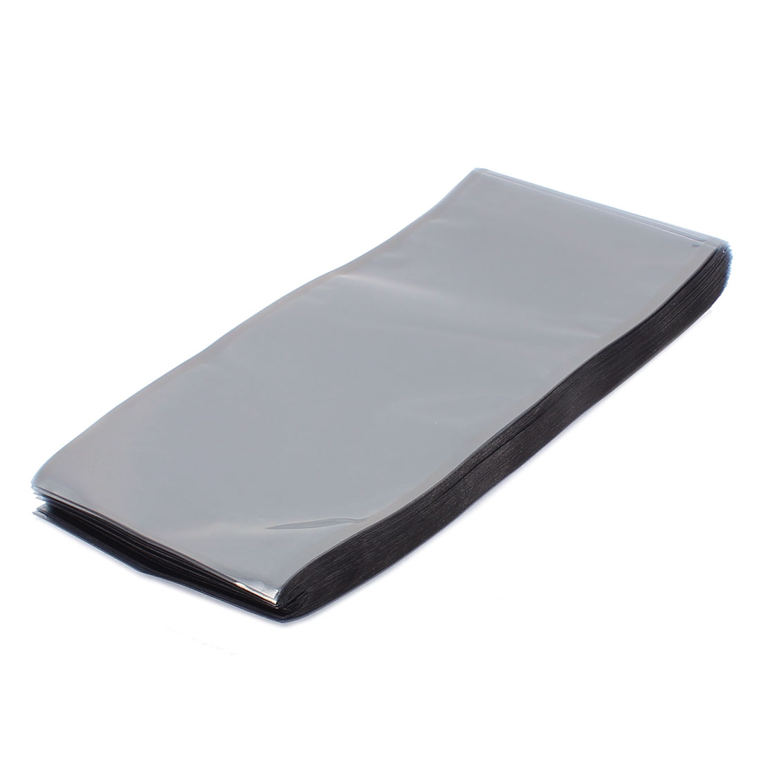 100 Pcs 110mm x 220mm Silver Tone Flat Open Top Anti Static Bag For Electronics