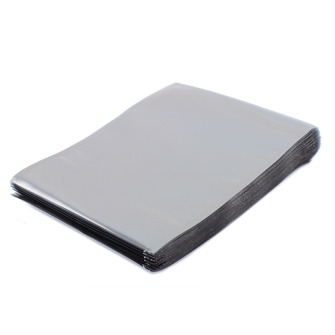 100 Pcs 120mm x 160mm Silver Tone Flat Open Top Anti Static Bag For Electronics