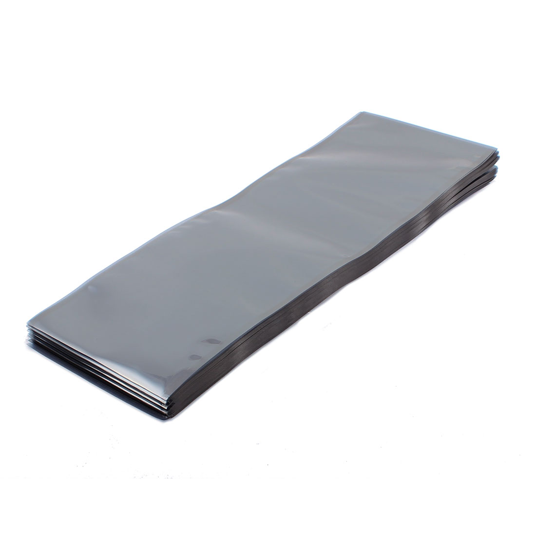 100 Pcs 120mm x 330mm Silver Tone Flat Open Top Anti Static Bag For Electronics