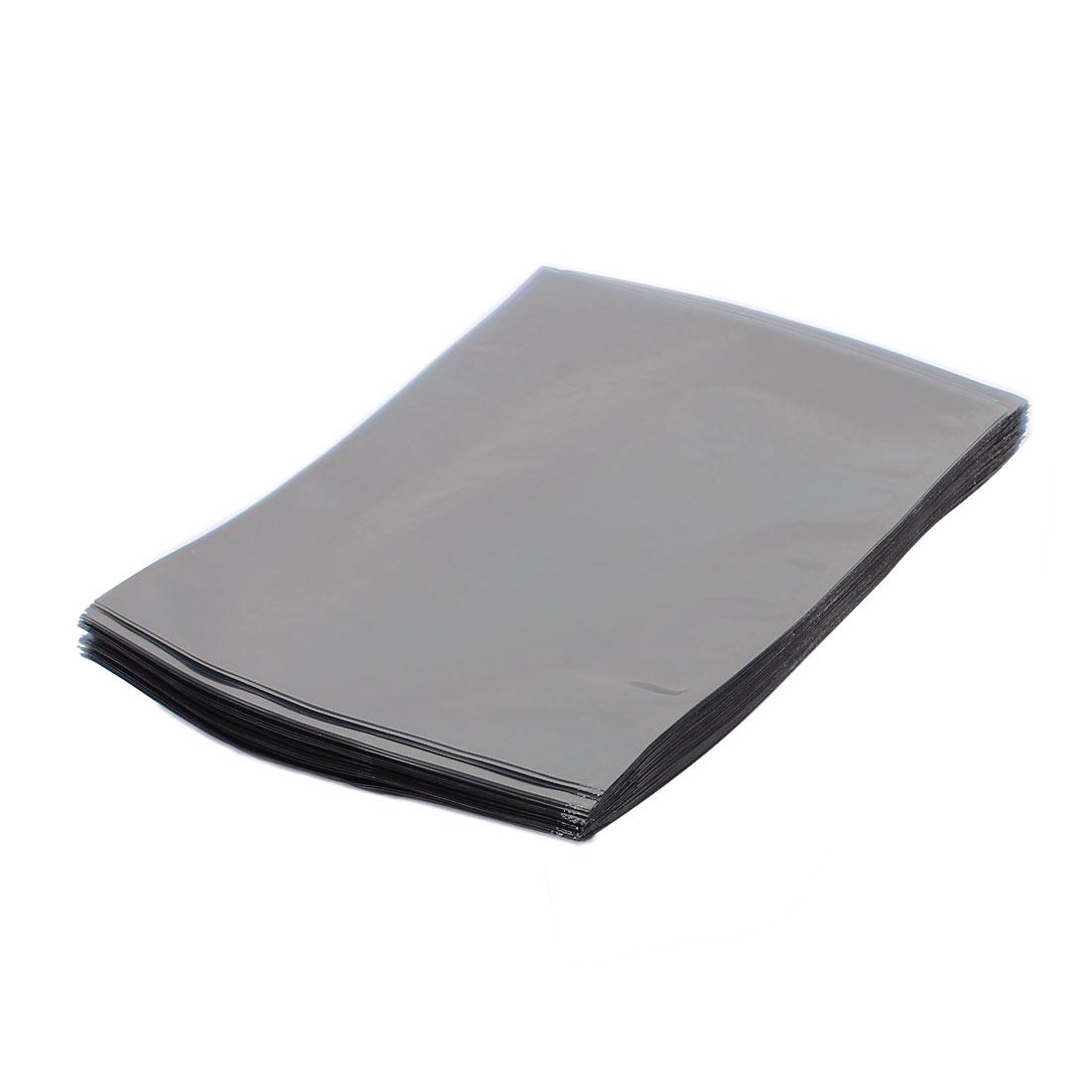100 Pcs 140mm x 180mm Silver Tone Flat Open Top Anti Static Bag For Electronics