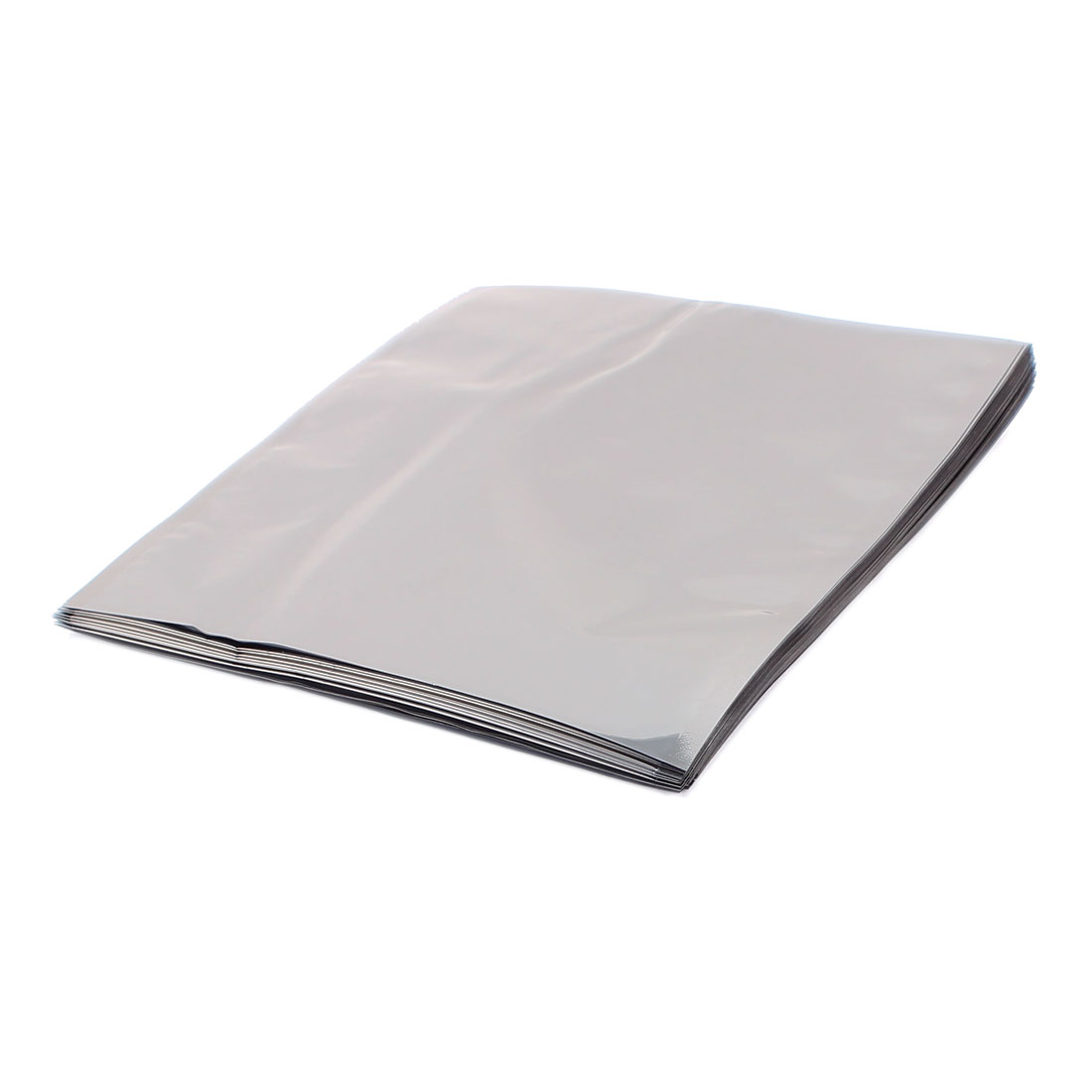 50 Pcs 145mm x 170mm Silver Tone Flat Open Top Anti Static Bag For Electronics