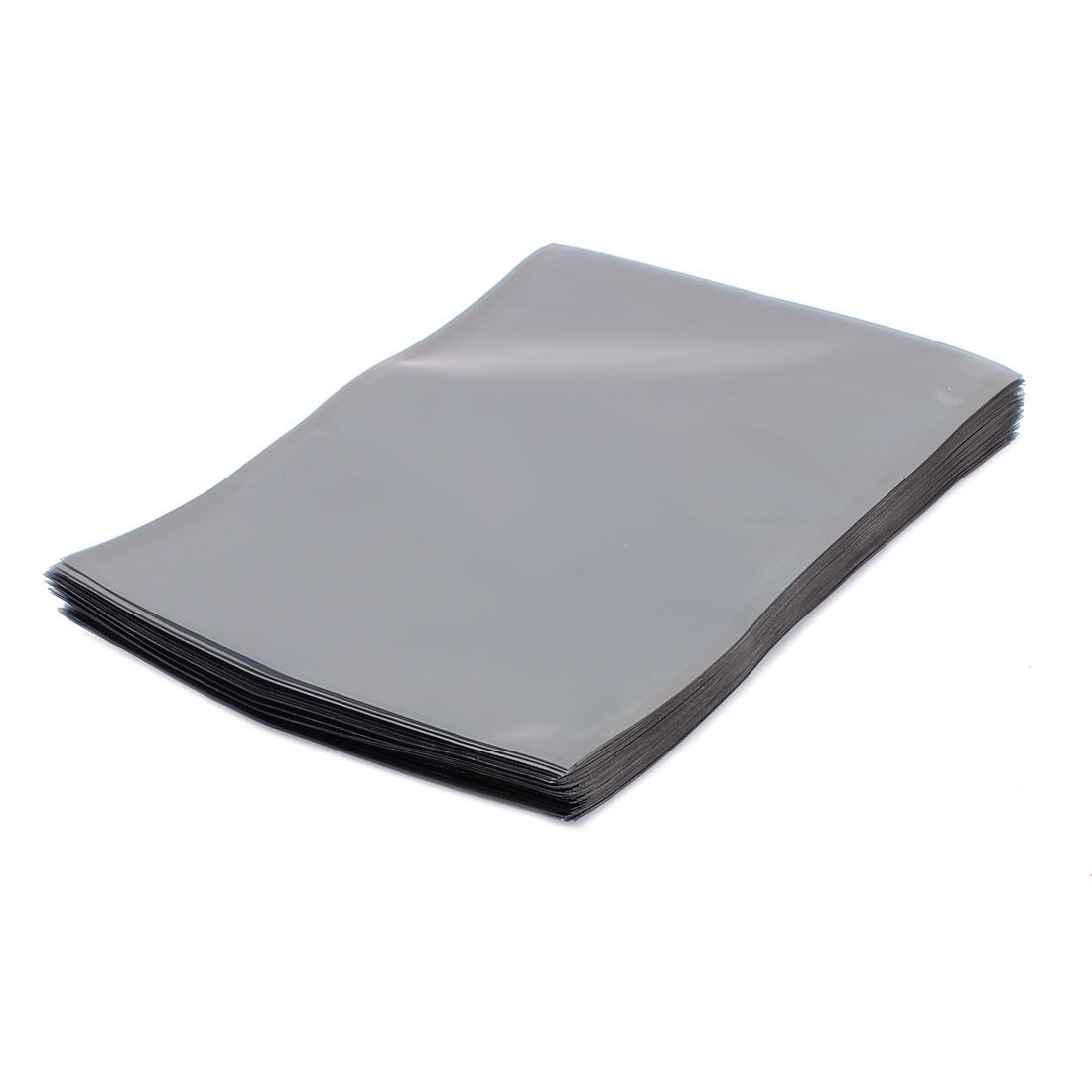 100 Pcs 150mm x 200mm Silver Tone Flat Open Top Anti Static Bag For Electronics