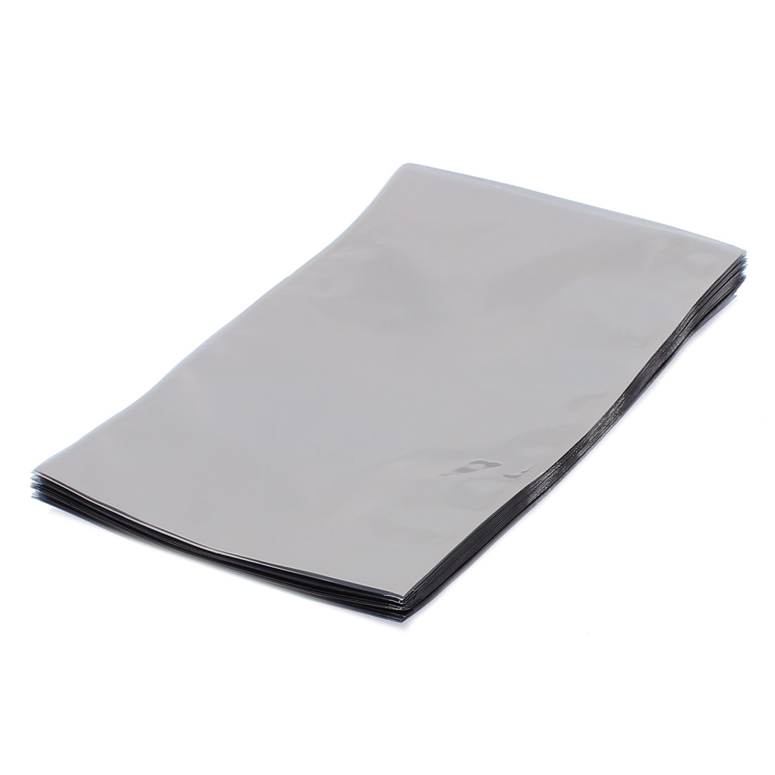 50 Pcs 155mm x 230mm Silver Tone Flat Open Top Anti Static Bag For Electronics