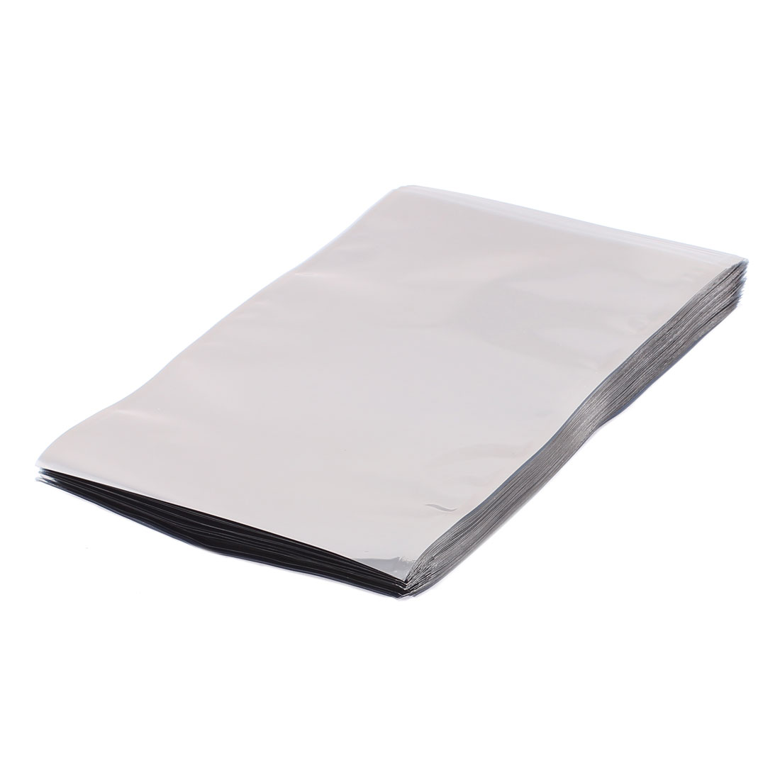 100 Pcs 155mm x 230mm Silver Tone Flat Open Top Anti Static Bag For Electronics