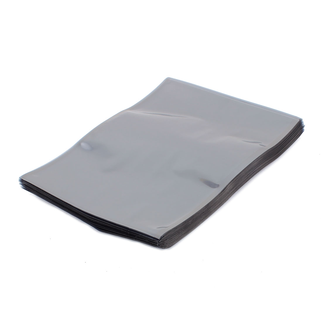 100 Pcs 160mm x 200mm Silver Tone Flat Open Top Anti Static Bag For Electronics