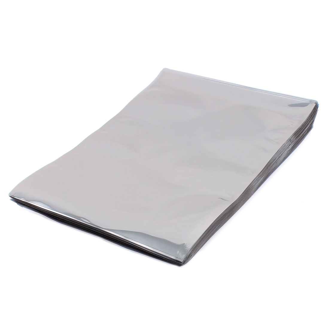 100 Pcs 160mm x 230mm Silver Tone Flat Open Top Anti Static Bag For Electronics