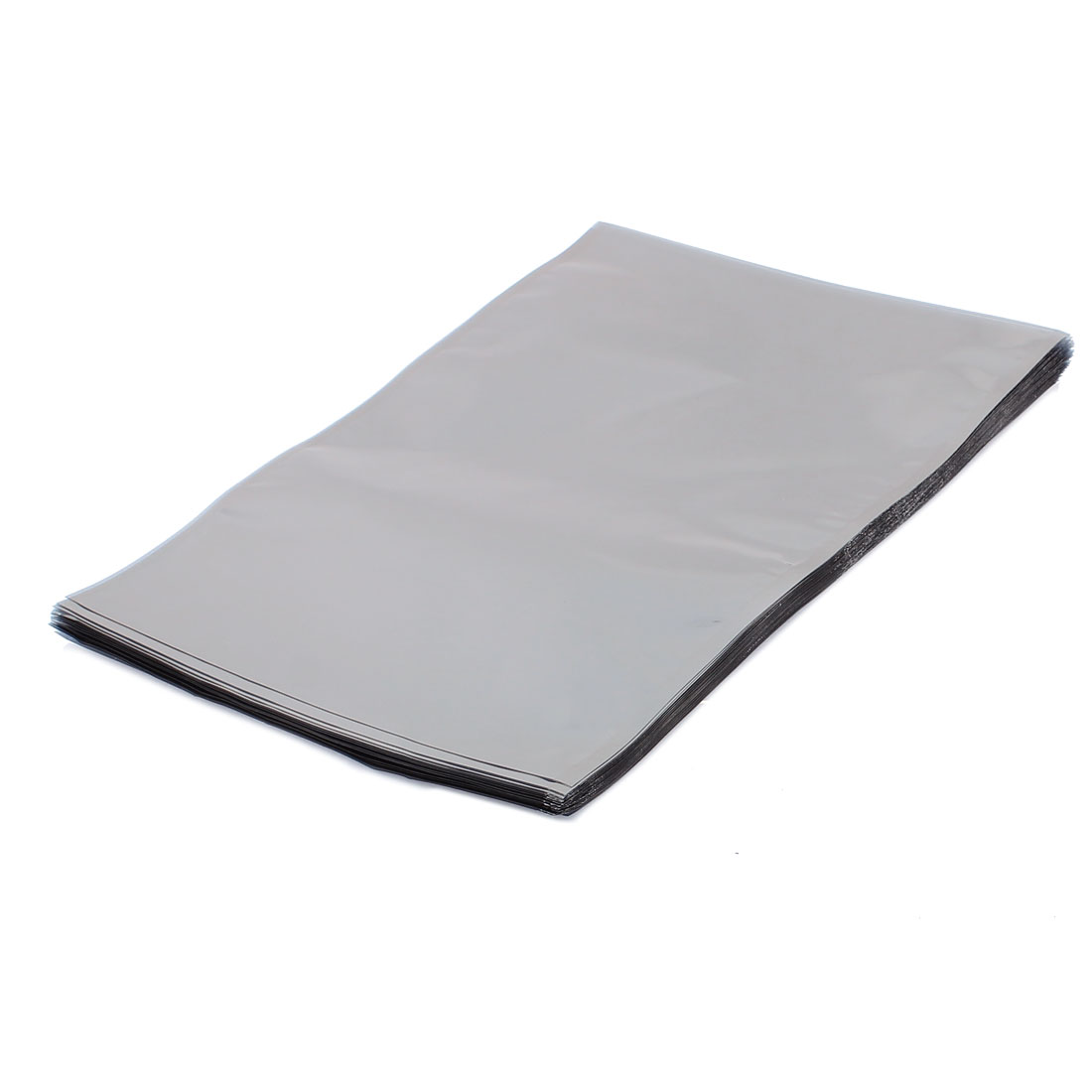 50 Pcs 180mm x 260mm Silver Tone Flat Open Top Anti Static Bag For Electronics