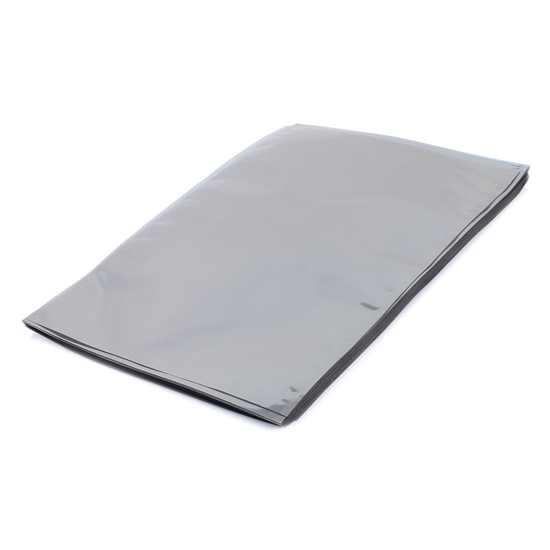 50 Pcs 190mm x 270mm Silver Tone Flat Open Top Anti Static Bag For Electronics