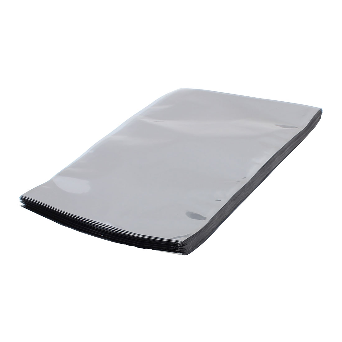 100 Pcs 200mm x 300mm Silver Tone Flat Open Top Anti Static Bag For Electronics