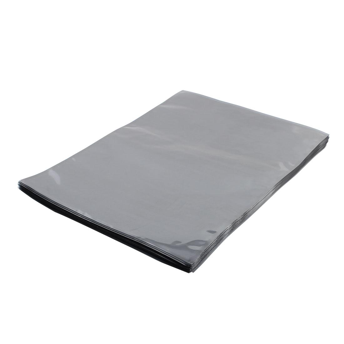 50 Pcs 210mm x 240mm Silver Tone Flat Open Top Anti Static Bag For Electronics