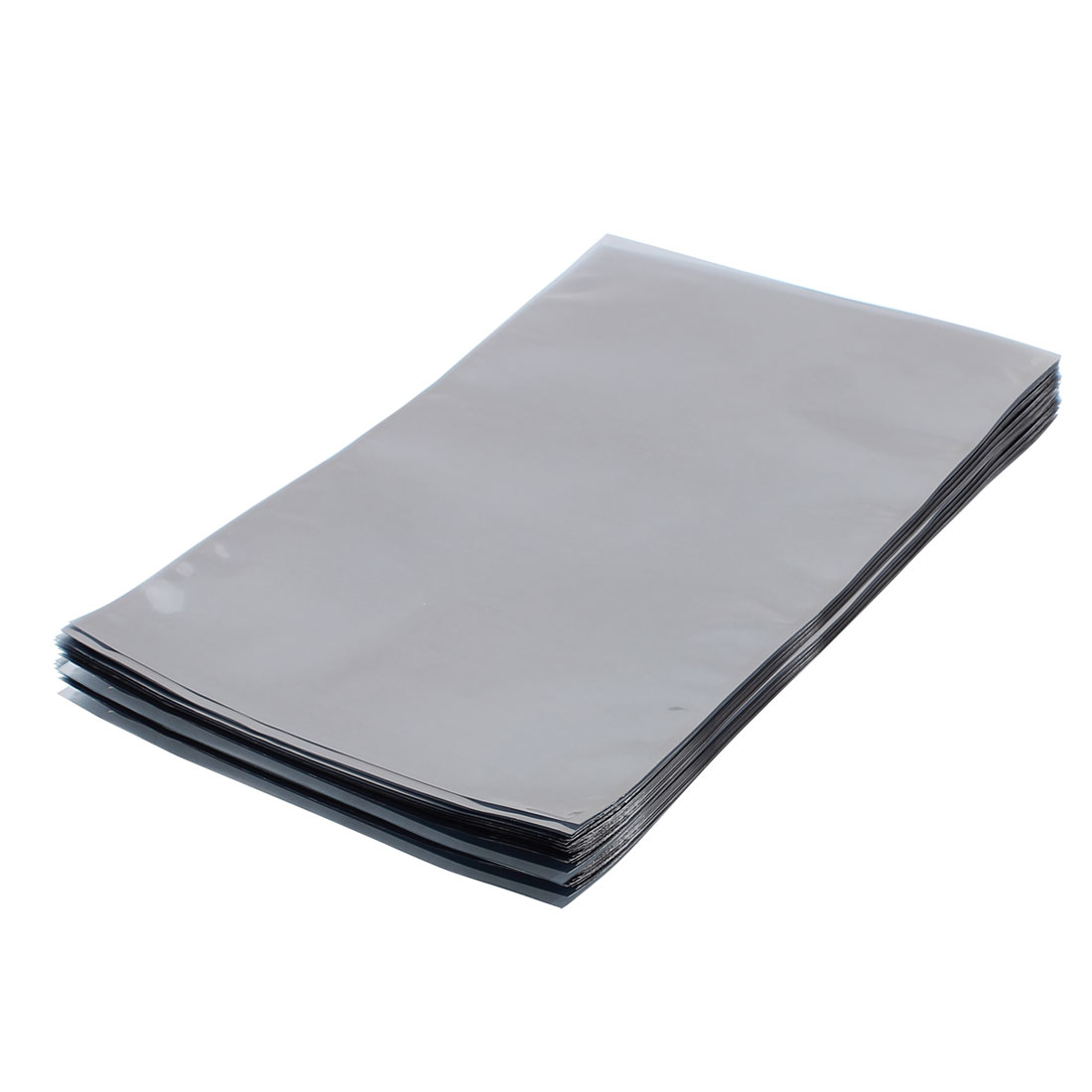 100 Pcs 230mm x 340mm Silver Tone Flat Open Top Anti Static Bag For Electronics