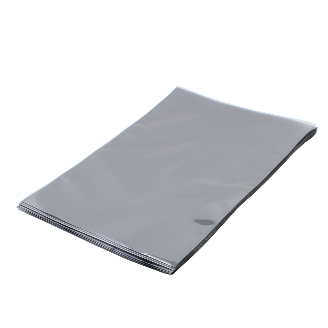 50 Pcs 250mm x 350mm Silver Tone Flat Open Top Anti Static Bag For Electronics
