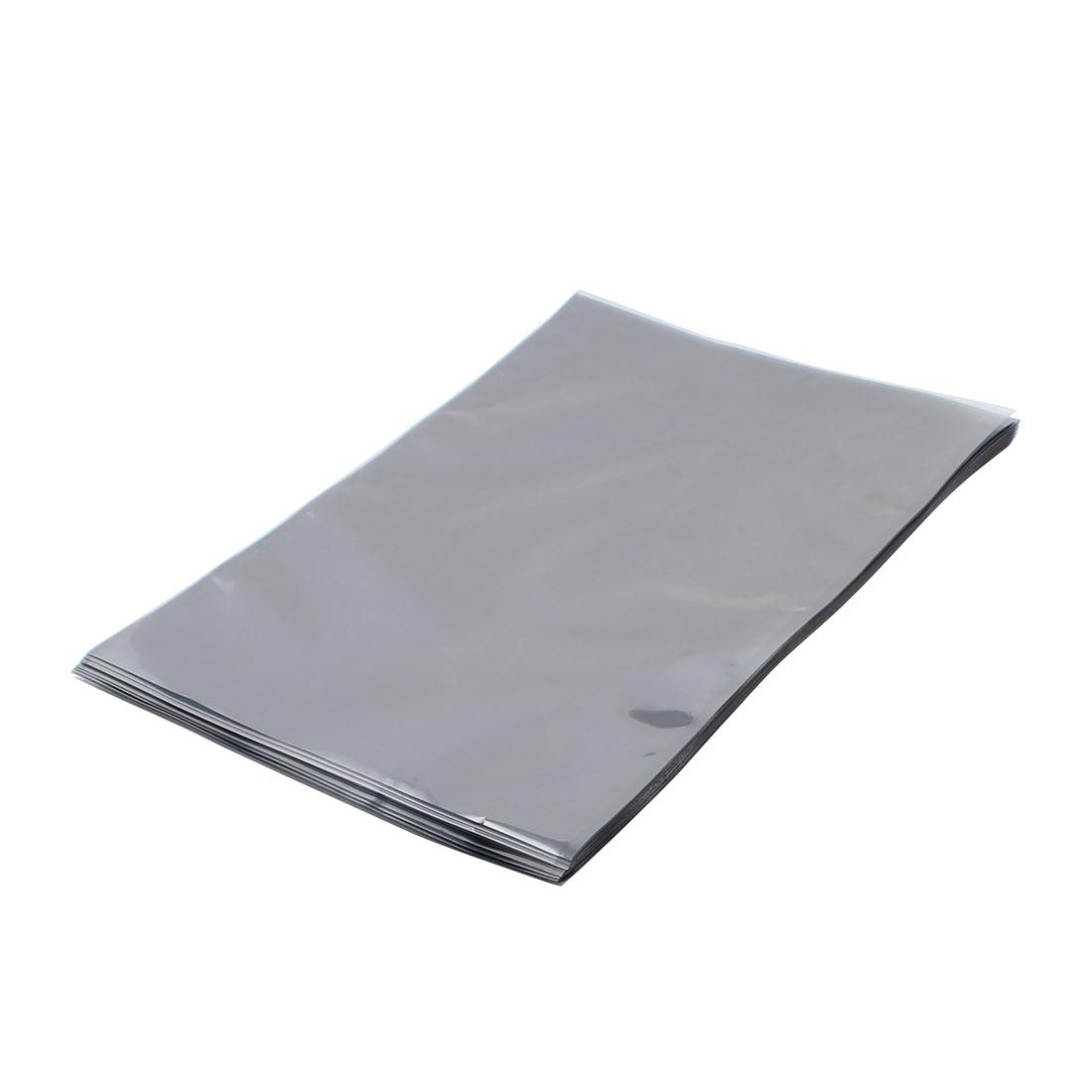 50 Pcs 270mm x 400mm Silver Tone Flat Open Top Anti Static Bag For Electronics