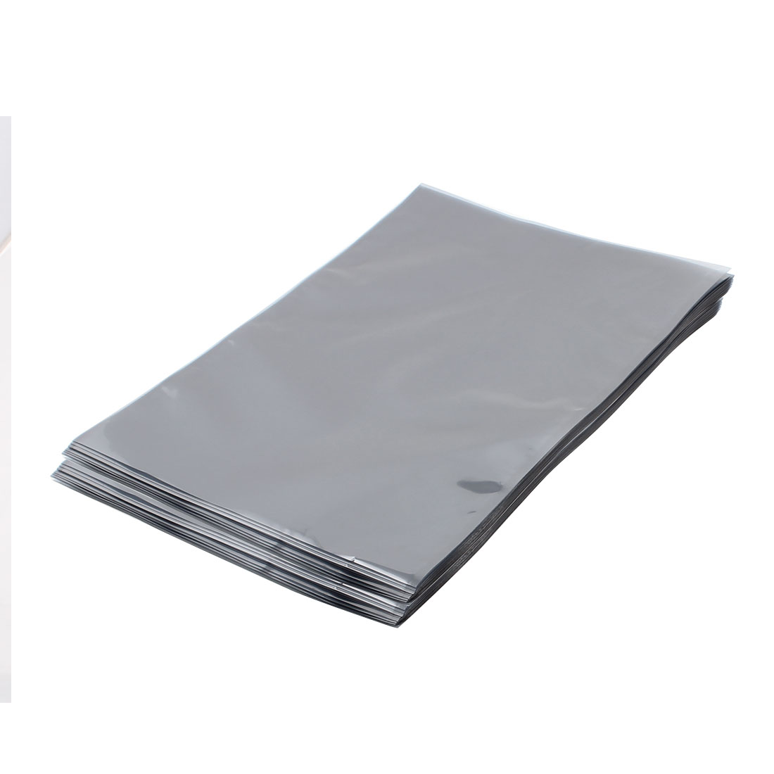 100 Pcs 270mm x 400mm Silver Tone Flat Open Top Anti Static Bag For Electronics