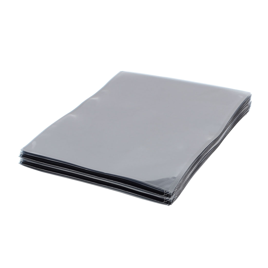 100 Pcs 300mm x 400mm Silver Tone Flat Open Top Anti Static Bag For Electronics