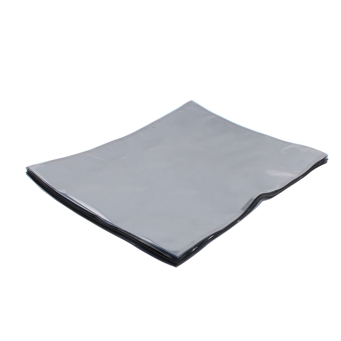 50 Pcs 400mm x 500mm Silver Tone Flat Open Top Anti Static Bag For Electronics