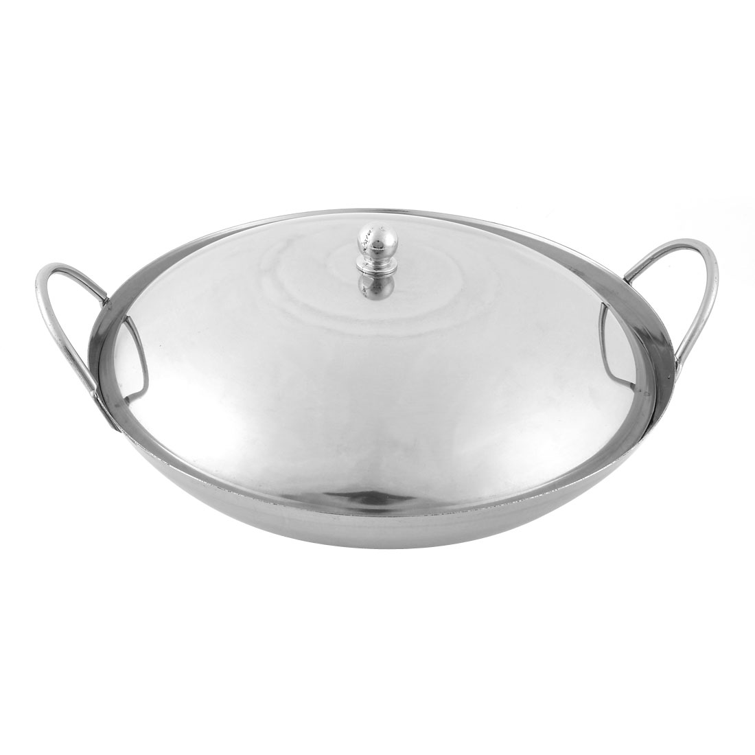Home Restaurant Stainless Steel Chafing Dish Pot Silver Tone w Lid Cover
