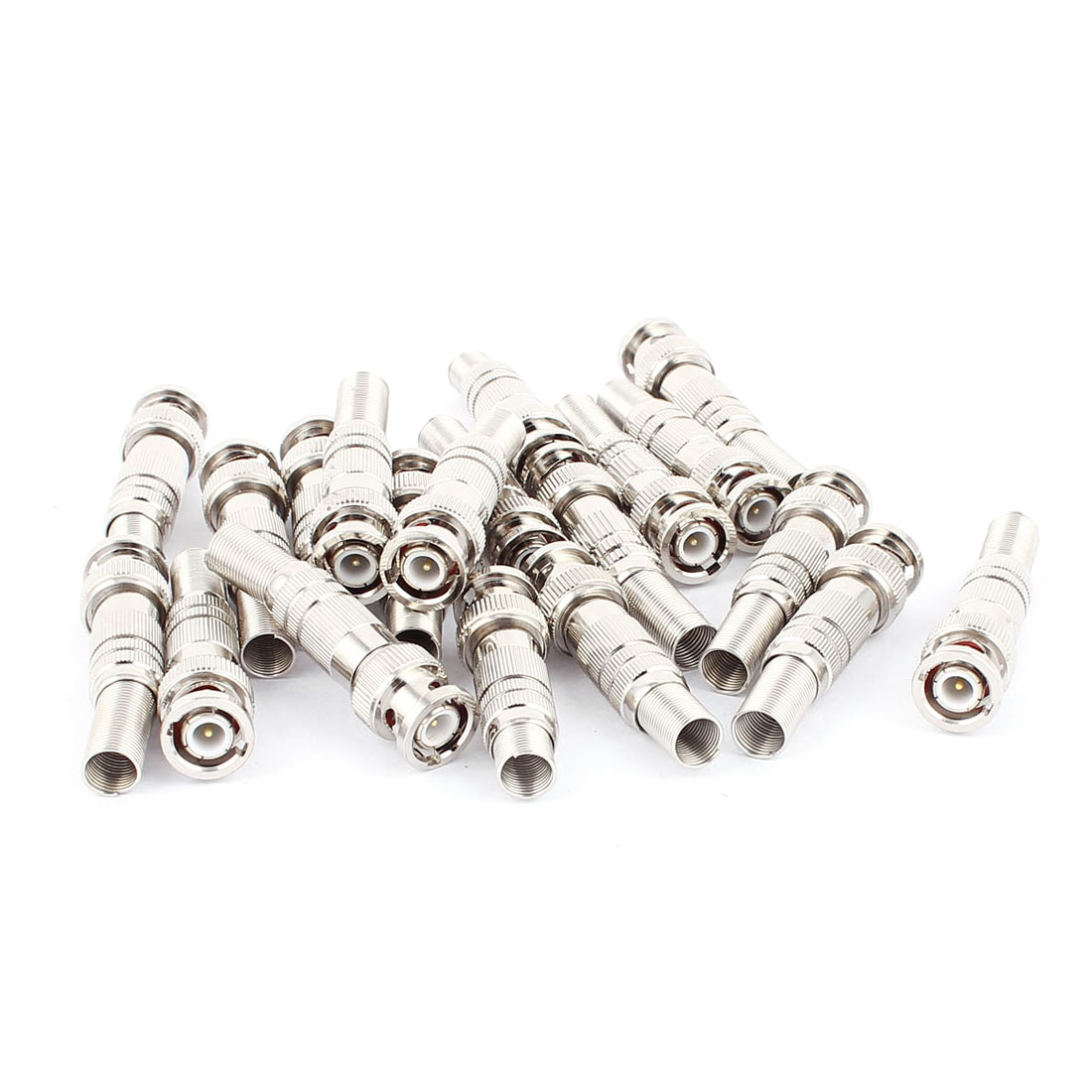 20Pcs Twist Spring Copper-plated BNC Male Adapter Connector for CCTV Camera