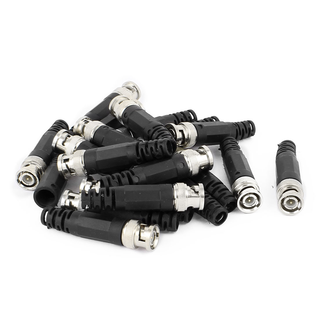 20Pcs Plastic Tail BNC Male Straight Connector for CCTV Camera Coaxial Cable