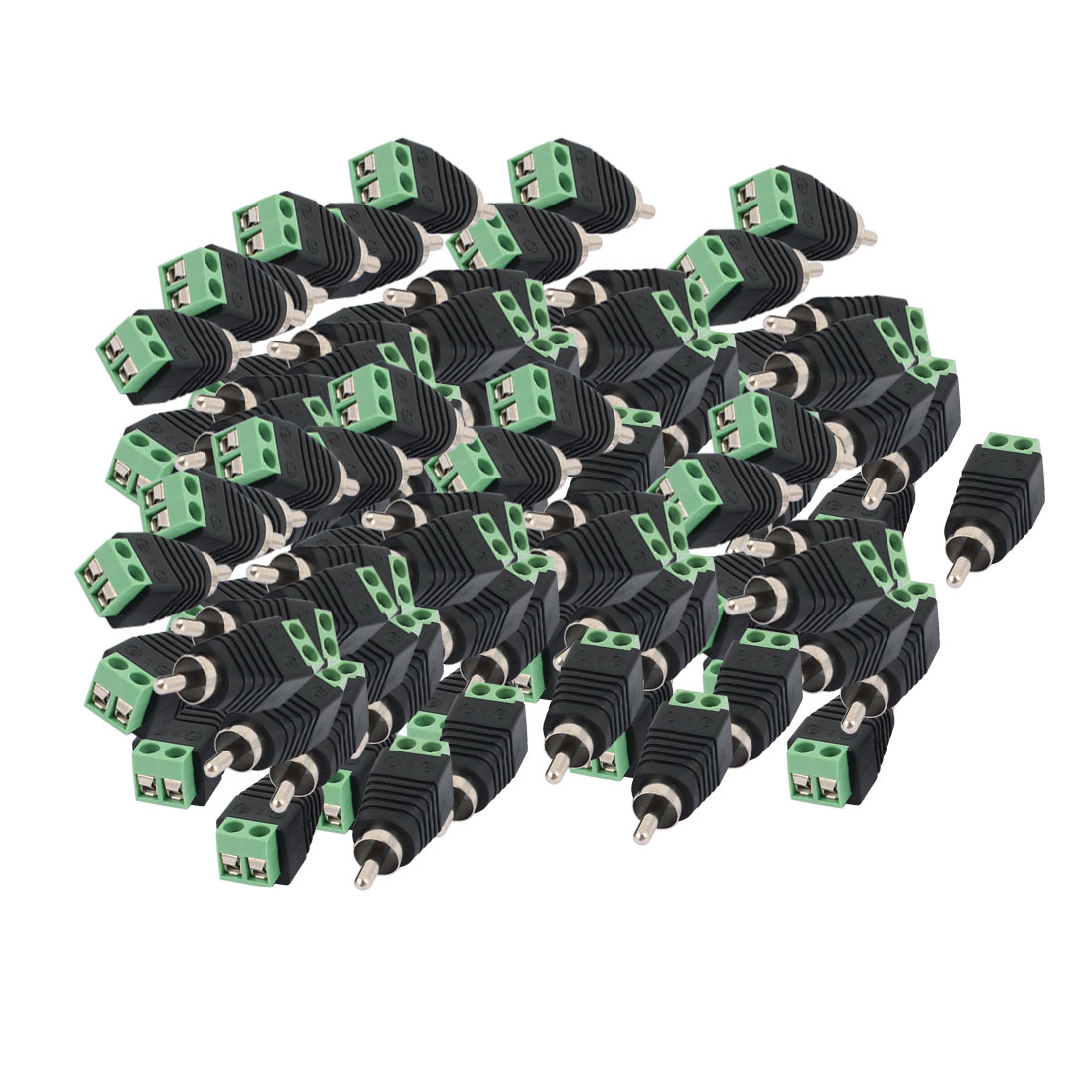 100 Pcs Screw Terminal Coaxial Cat5 Cat6 to Audio Video RCA Male Jack Connector
