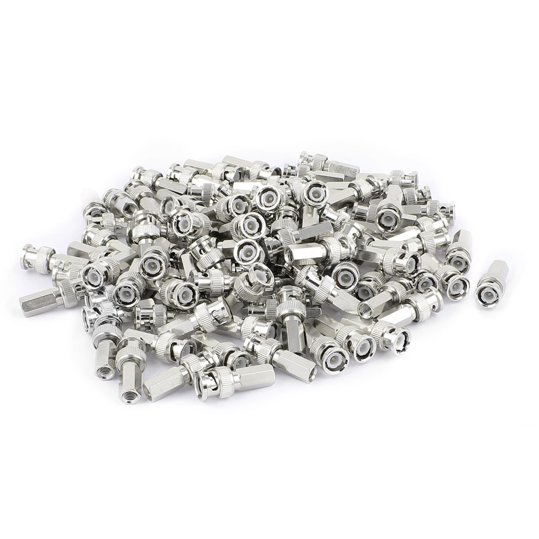 100Pcs Twist On BNC Male RG58/59/60 Coax Coaxial Connector Adapter for CCTV Camera