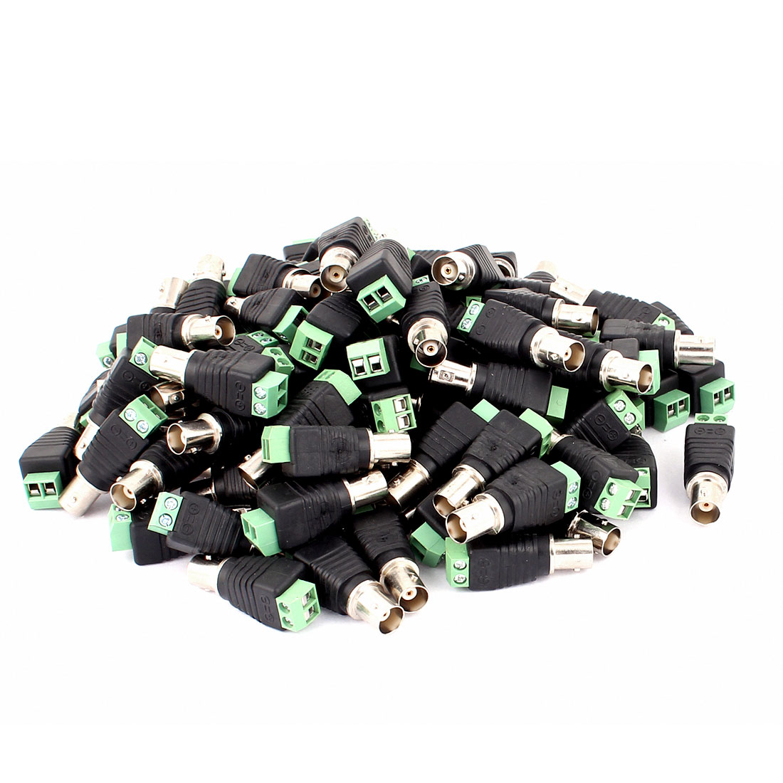 100 Pcs Screw Terminal Coaxial Cat5 to BNC Female Jack Video Balun Connector